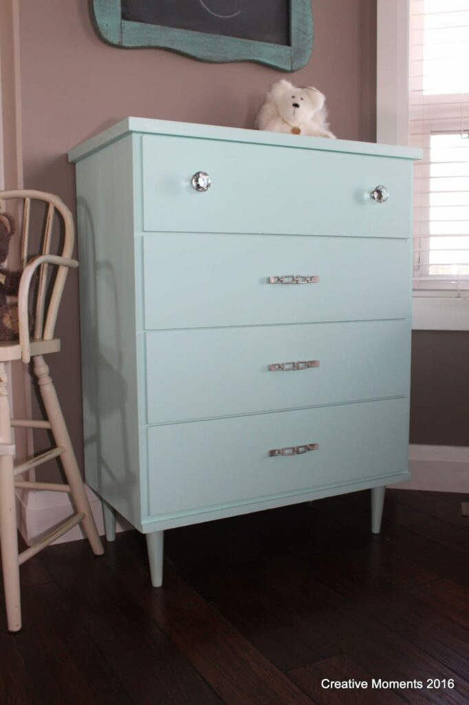 Creative Moments dresser shared on The Painted Drawer Link Party