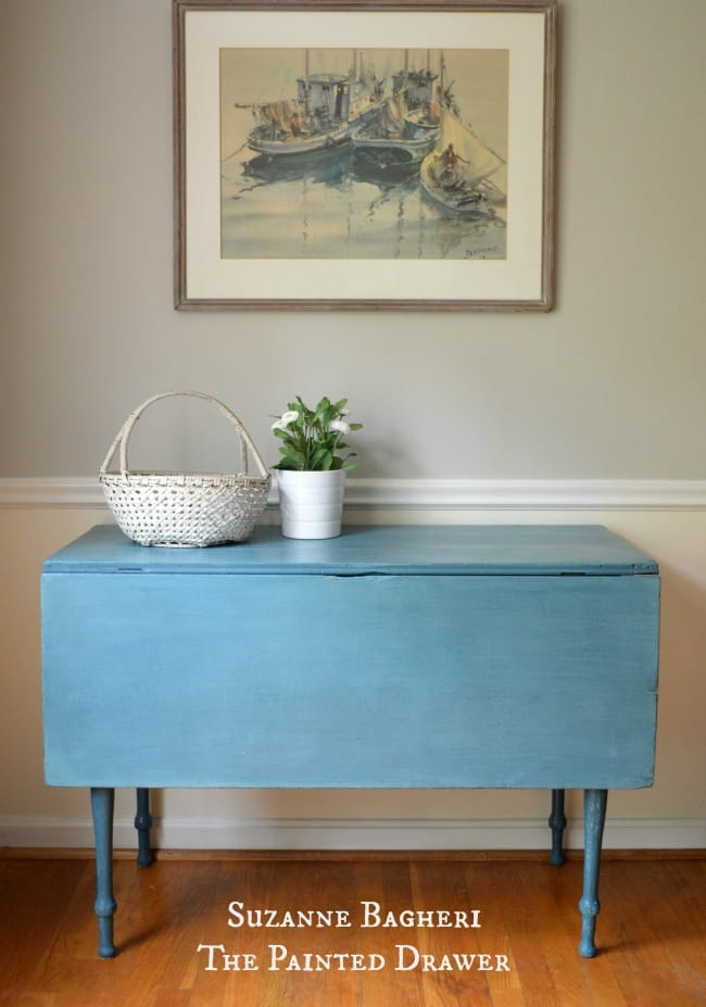 Farmhouse Table in Blues – Before and After