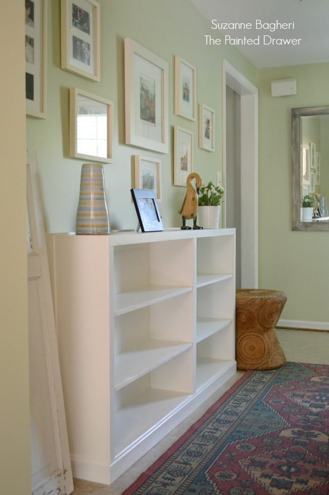 Thrift Store Bookcases Transformed to Built-Ins – Before and After (Hallway V)