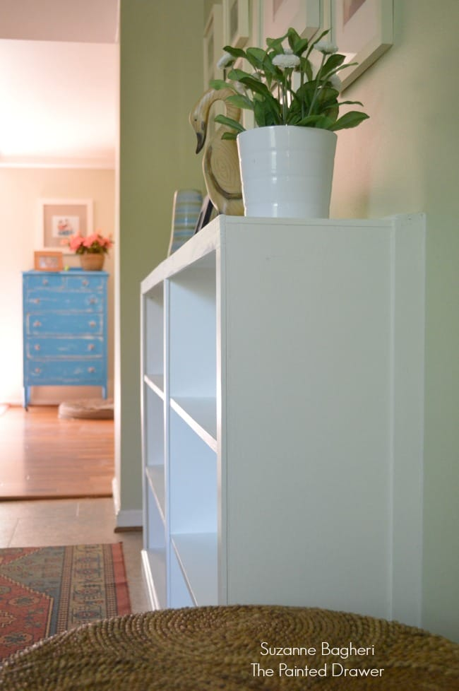 Hallway Thrift Store Bookcase Built-Ins for under $150