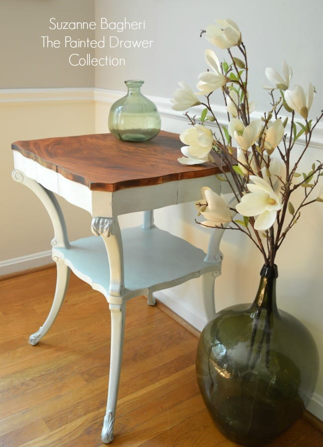 Vintage Table in Country Chic Icicle Blue – Before and After