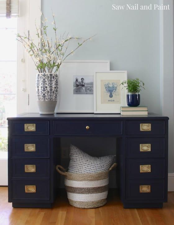Coastal Blue Campaign Style Desk