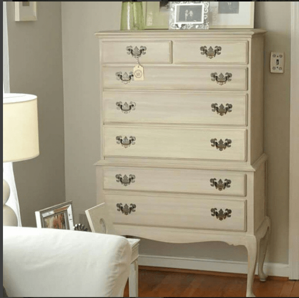 Annie Sloan Country Grey with Coco Wash French Dresser by The Painted Drawer