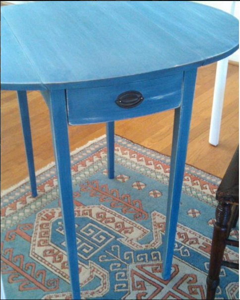 Annie Sloan Napoleonic Blue Table by The Painted Drawer