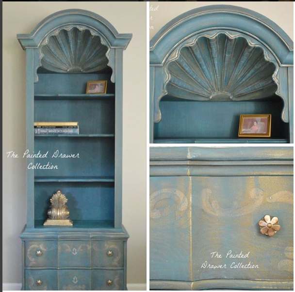 Drexel French Shell Cabinet in Annie Sloan mix by The Painted Drawer