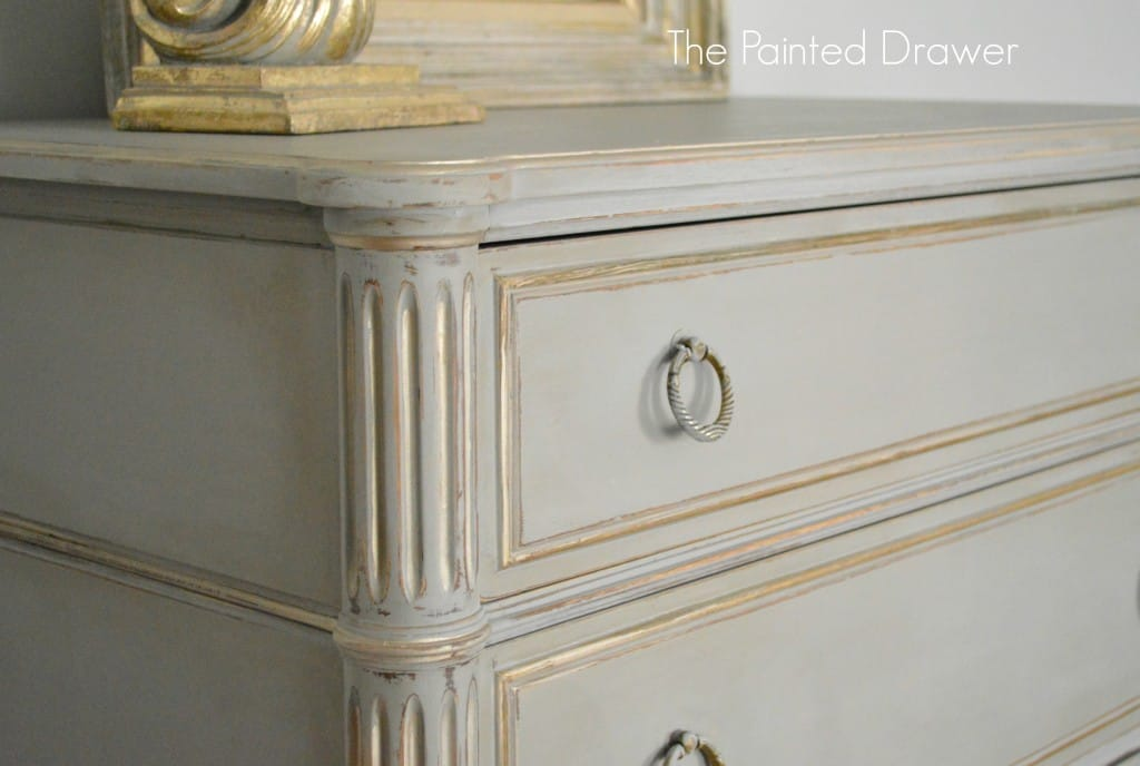 French Gray and Gold Drawer
