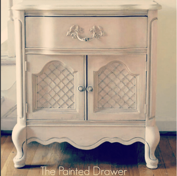 French Table painted in Annie Sloan Antoinette by The Painted Drawer