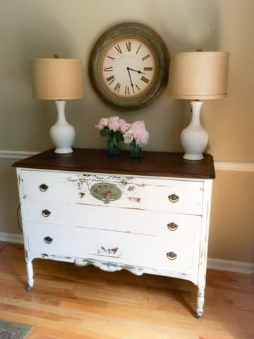Junkchick Life Cottage Dresser shared by The Painted Drawer Link Party