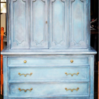 Mix of Annie Sloan Chalk Paint Blues by The Painted Drawer