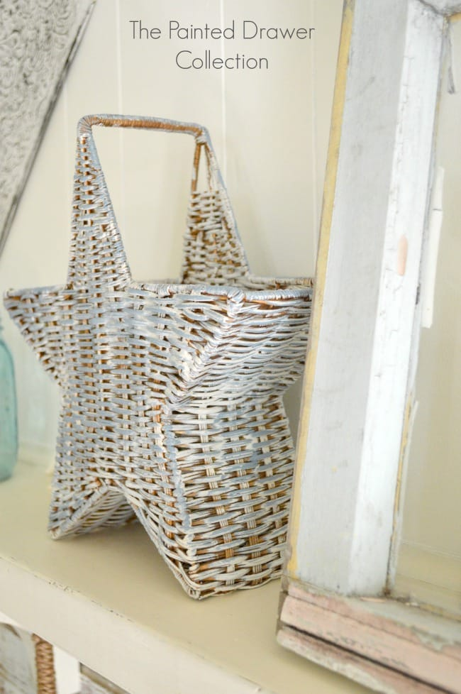 Thrift Store Basket Goes Coastal
