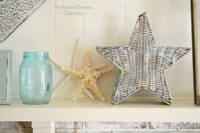 Painted Star Basekt by The Painted Drawer