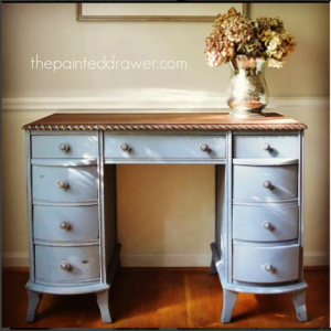 Vintage Vanity in Annie Sloan Old Violet by The Painted Drawer