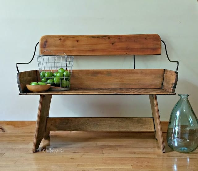 Carriage Bench by Redo It Yourself Inspirations shared on The Painted Drawer Link Party