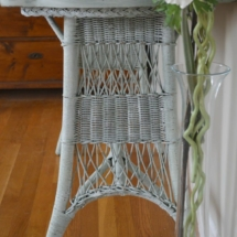 Basil Wicker Table by The Painted Drawer
