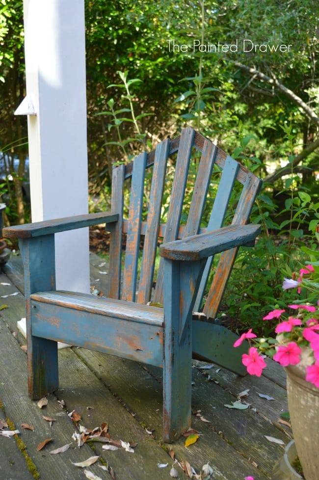 Child's Adirondack chair painted in Annie Sloan