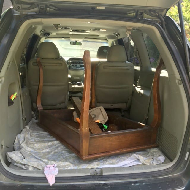 Table in Minivan