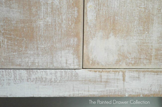 Whitewashed Cabinet bottom by The Painted Drawer