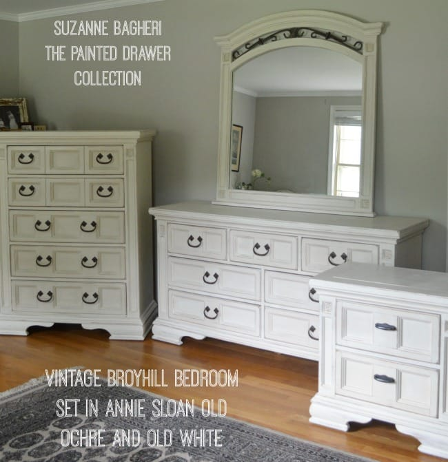 https://thepainteddrawer.com/wp-content/uploads/2016/08/Broyhill-Bedroom-Set-in-Old-Ochre-and-Old-White-Annie-Sloan-chalk-paint-by-The-Painted-Drawer-1.jpg