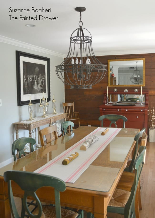 Dining Room with Planked Wall
