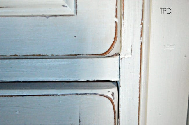 Old White and Old Ochre distressed chalk paint