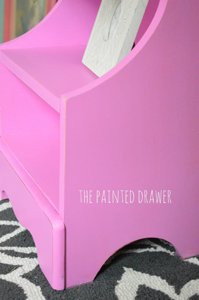 Pink Nightstand by The Painted Drawer