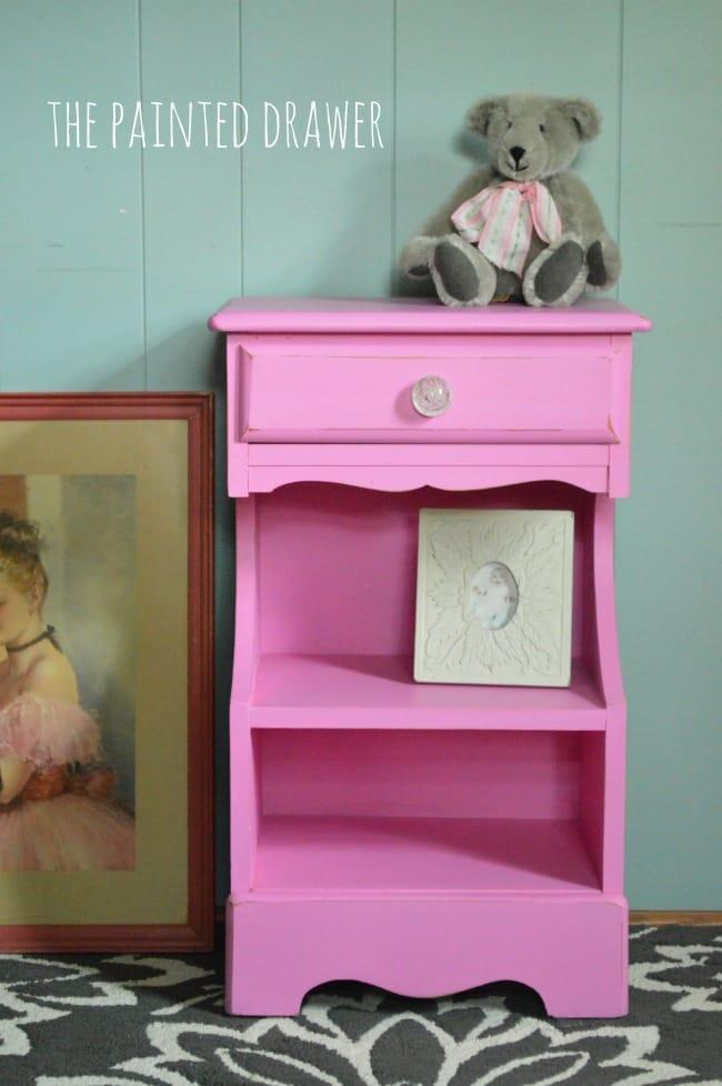 Spring Azalea by Benjamin Moore vintage nightstand