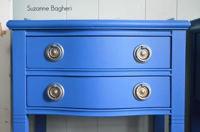 Benjamin Moore Blue Suede Shoes Table