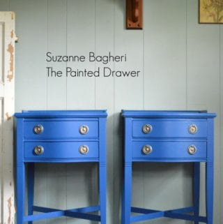 Benjamin Moore Blue Suede Shoes Tables