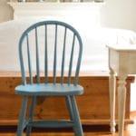blue farmhouse chair