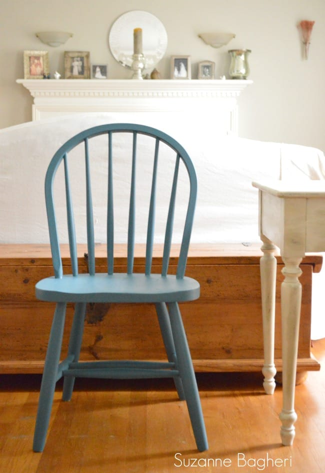 blue farmhouse chair