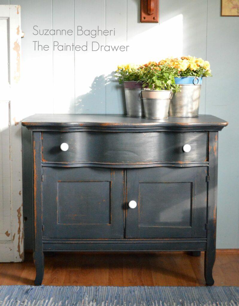 Midnight Blue Farmhouse Cabinet