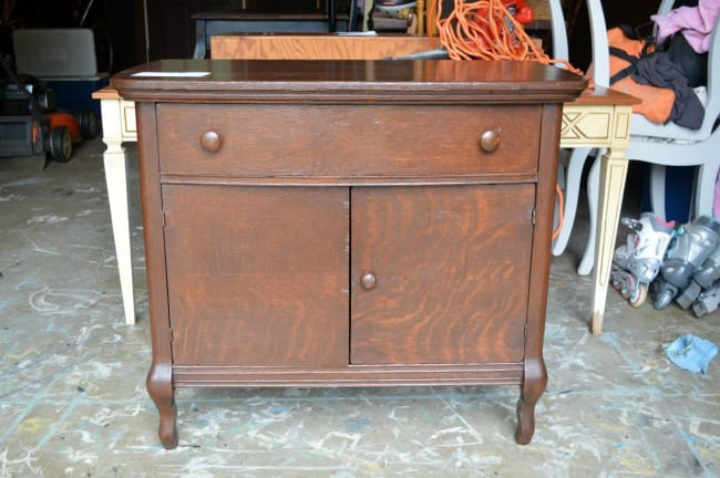 Pewter small cabinet