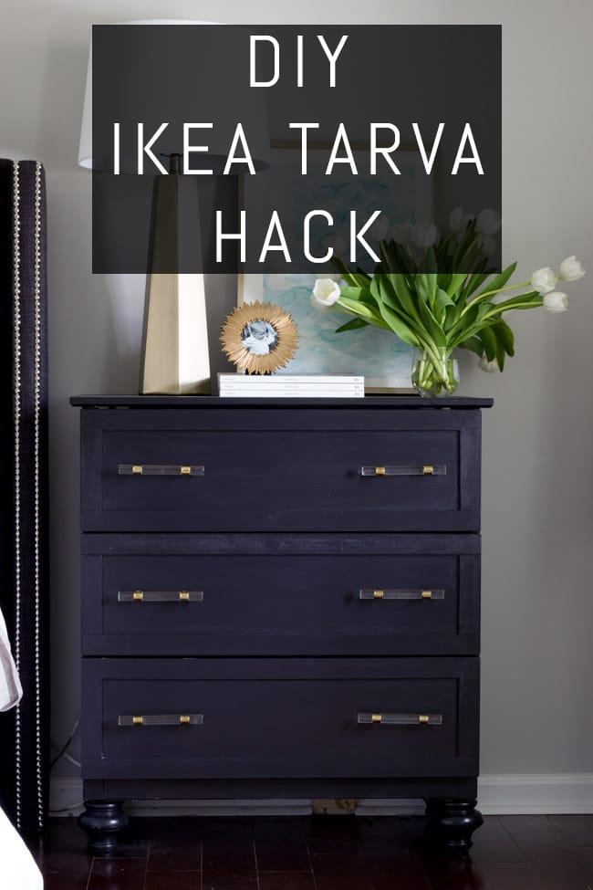 DIY Ikea Tarva Hack Tutorial by Erin Spain