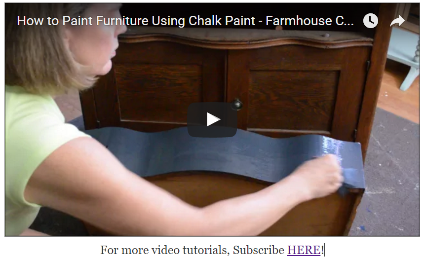 General Finishes Chalk Style Paint Video Tutorial
