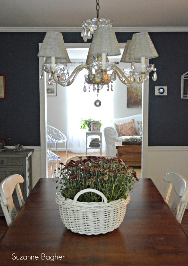 Dining Room in Sherwin Williams Rainstorm