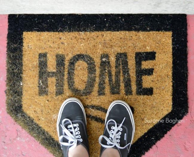 Home Plate front door mat
