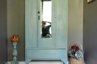 Vintage Armoire in Duck Egg Blue