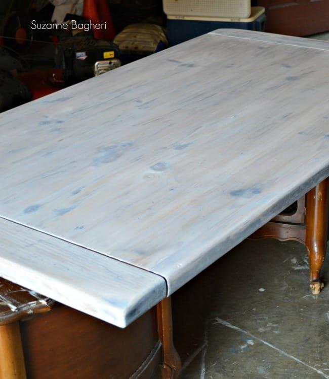 whitewashed farmhouse tabletop