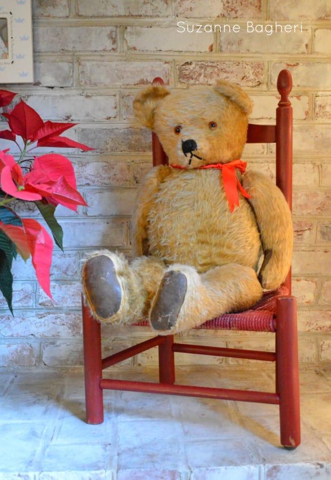 Vintage Teddy Bear for Christmas