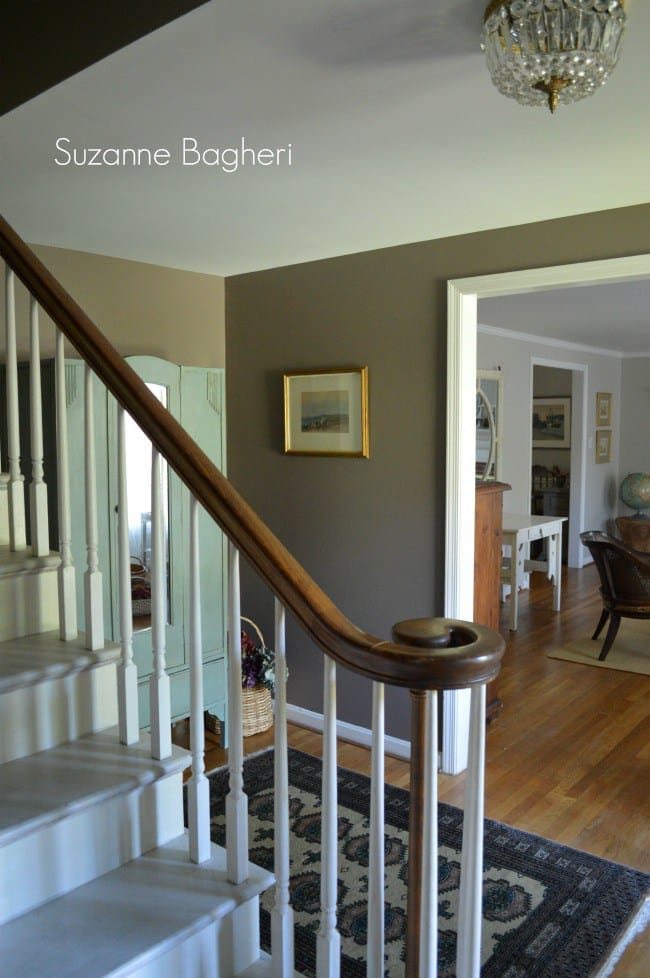poised taupe foyer