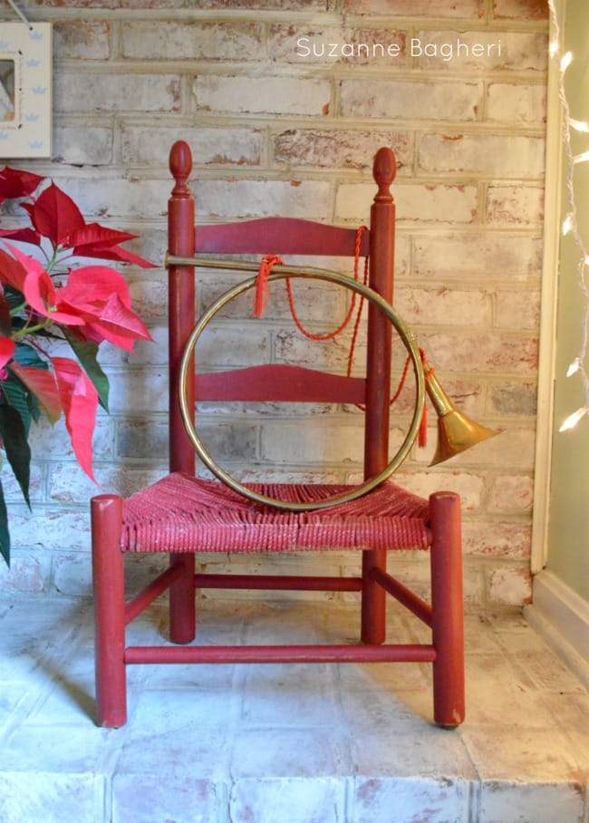 Vintage French Horn Christmas decor