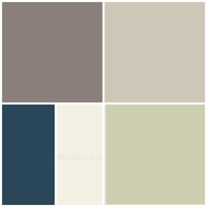 paint color scheme collage
