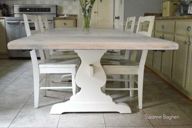 Whitewashed Farmhouse Table