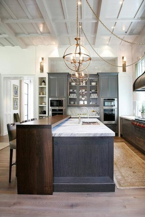 mixed material kitchen