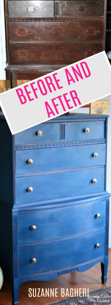 Dresser Before and After thepainteddrawer.com