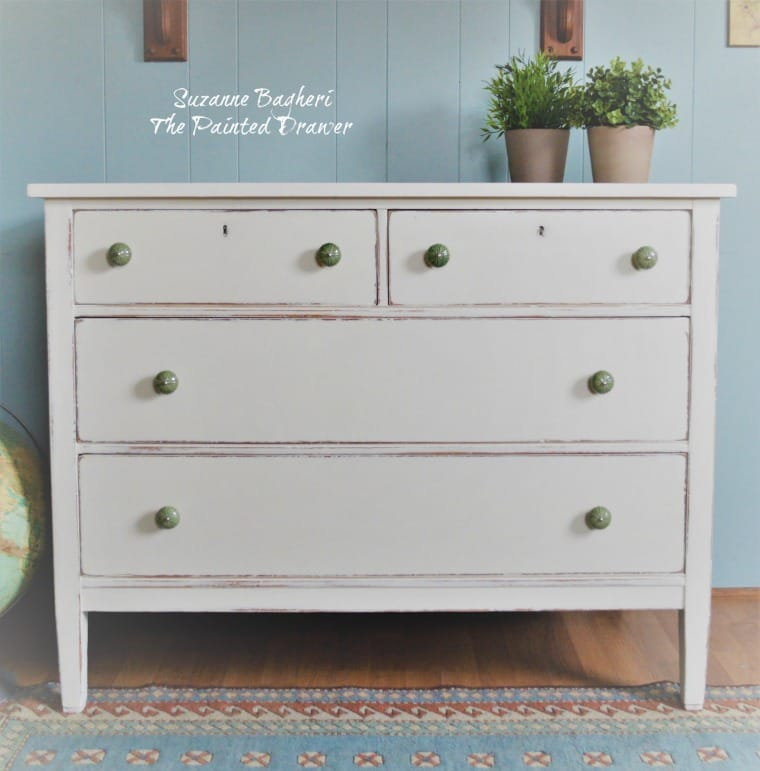 Simply White Farmhouse Dresser, Before and After