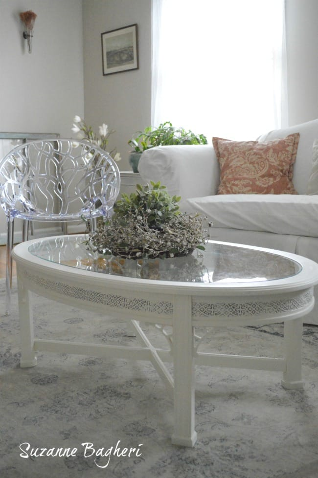 Vintage White Coffee Table Before and After