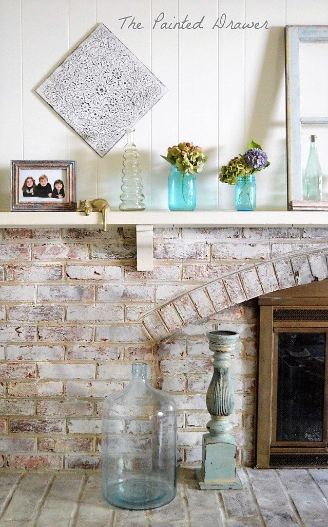 whitewashed brick with annie sloan old white
