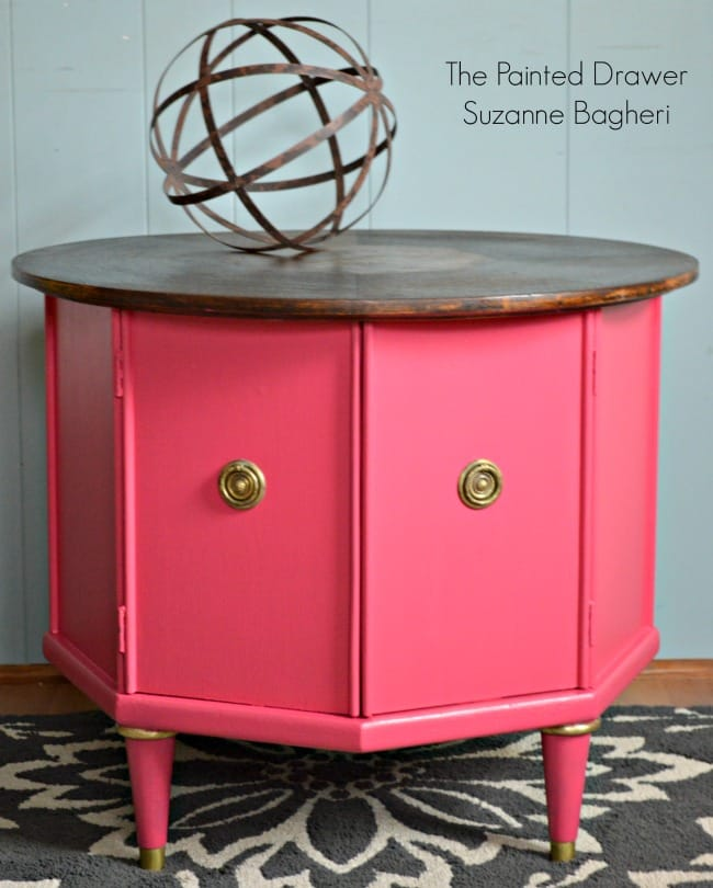 Mid-Century Table in Glamorous Pink