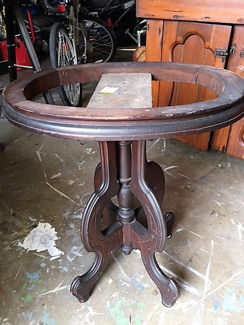 vintage table base